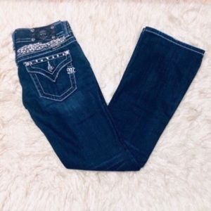 Miss Me Angel Wing Embellished Bootcut Jeans